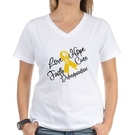 Hope Childhood Cancer Women's V-Neck T-Shirt
