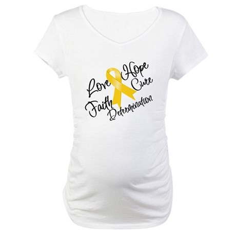Hope Childhood Cancer Maternity T-Shirt