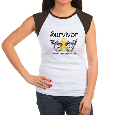 Survivor Childhood Cancer Women's Cap Sleeve T-Shi