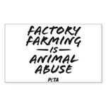 Factory Farming Sticker (Rectangle)