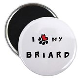 "I *heart* My Briard 2.25"" Magnet (10 pack)"