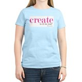 create Women's Pink T-Shirt