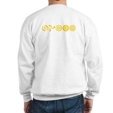 Sweatshirt with crop circle