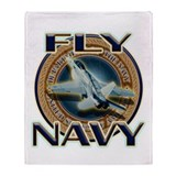 Fly Navy Throw Blanket