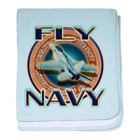 Fly Navy baby blanket