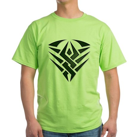 Tribal Badge Green T-Shirt