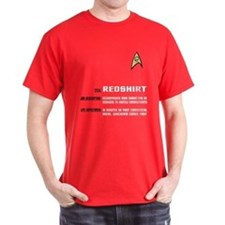 Star Trek 'Job Description' Men's Red Shirt