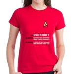 Star Trek 'Job Description' Women's Red Shirt