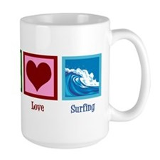 Peace Love Surfing Mug