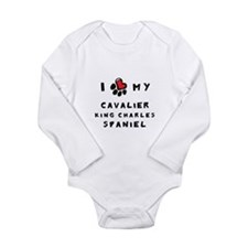 I *heart* My Cavalier Long Sleeve Infant Bodysuit