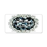 Diamonds are forever Aluminum License Plate