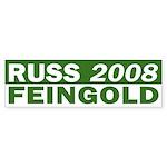 Russ Feingold 2008 green bumper sticker