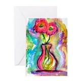 Flowers, colorful, art, Greeting Card