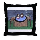 Hot Tubbing Throw Pillow