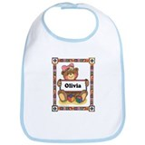 Teddy Bear, Olivia - Bib