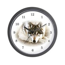 """Soulful Wolf Eyes"" Wall Clock"