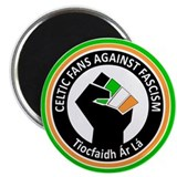 Celtic Fans Against Fascism Magnet