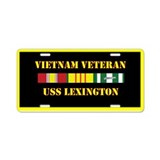 USS Lexington Aluminum License Plate