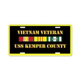 USS Kemper County Aluminum License Plate