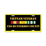 USS Hunterdon County Aluminum License Plate