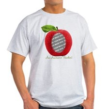 Teacher's Apple Custom Photo T-Shirt
