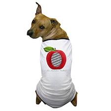 Teacher's Apple Custom Photo Dog T-Shirt