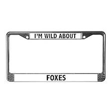 Fox License Plate Frame