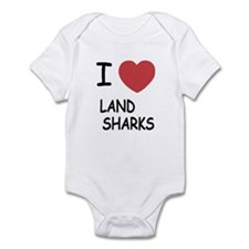 I heart land sharks Infant Bodysuit