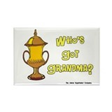 Cremation Grandma Urn Rectangle Magnet