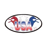 USA Horses Patches