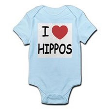 I heart hippos Infant Bodysuit
