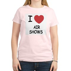 I heart air shows Women's Light T-Shirt