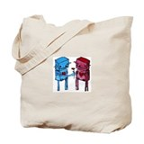 Robots in Love Tote Bag