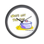 Who's Got The Pot 06 Wall Clock