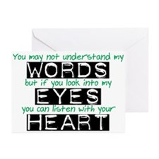 Listen with your Heart Greeting Cards (Pk of 10)