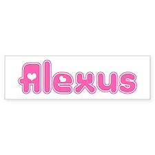 """Alexus"" Bumper Car Sticker"