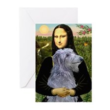 Mona & her Deerhound Greeting Cards (Pk of 10)