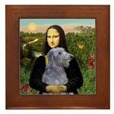 Mona & her Deerhound Framed Tile