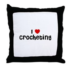 I * Crocheting Throw Pillow