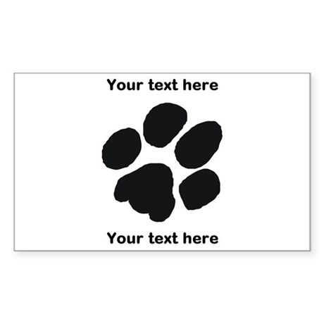 Pawprint - Customisable Sticker (Rectangle)