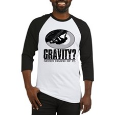 Gravity? Rock Climber Baseball Jersey