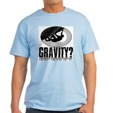 Gravity? Rock Climber Ash Grey T-Shirt