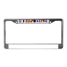 Nautical Charleston License Plate Frame