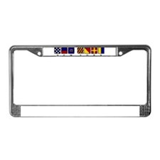 Nautical New York License Plate Frame