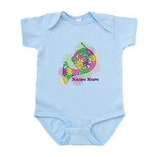 Custom Flower Horn Infant Bodysuit