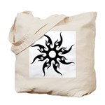 Tribal Sun (Black) Tote Bag