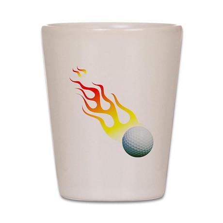 Golf On Fire! Shot Glass