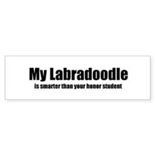 My Labradoodle is smarter tha Bumper Bumper Sticker