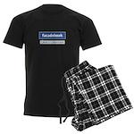 Facadebook Men's Dark Pajamas
