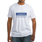 Facadebook Fitted T-Shirt
